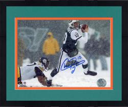 Framed Chad Pennington New York Jets Fanatics Authentic Autographed 8'' x 10'' vs. Pittsburgh Steelers In Snow Horizontal Photograph