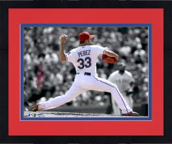 "Framed Martin Perez Texas Rangers Autographed 11"" x 14"" Spotlight Photograph"