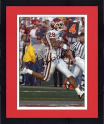Framed Fanatics Authentic Autographed Antonio Perkins Oklahoma Sooners 8'' x 10'' Running Ball Photograph