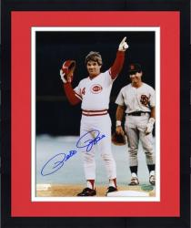 "Framed Pete Rose Cincinnati Reds 4192 Autographed 8"" x 10"" Photograph"