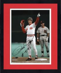Framed Pete Rose Cincinnati Reds 4192 Hit Autographed 8'' x 10'' Photograph with ''#4192'' Inscription