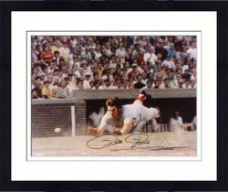 "Framed Pete Rose Cincinnati Reds Autographed 16"" x 20"" Head First Slide Photograph"