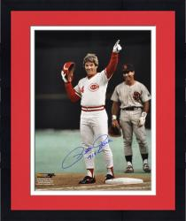 "Framed Pete Rose Cincinnati Reds Autographed 16"" x 20"" Photograph with ""4192"" Inscription"