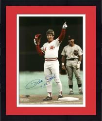 "Framed Pete Rose Cincinnati Reds Autographed 16"" x 20"" Photograph with ""4192"" Inscription"