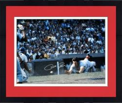 "Framed Pete Rose Cincinnati Reds Autographed 16"" x 20"" Silver Ink Head First Slide Photograph"