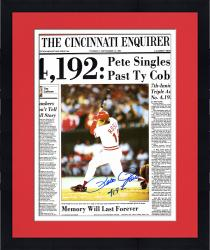 "Framed Pete Rose Cincinnati Reds Autographed 19"" x 25"" Cincinnati Enquirer Poster with 4192 Inscription"