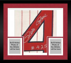 Framed Pete Rose Cincinnati Reds Autographed 1963 Home Crème Jersey with 4256 Inscription