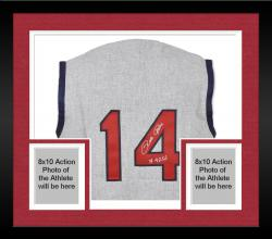 Framed Pete Rose Cincinnati Reds Autographed 1965 Jersey Vest 4256 Inscription