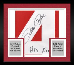 Framed Pete Rose Cincinnati Reds Autographed 1985 Mitchell & Ness Jersey with Hit King Inscription