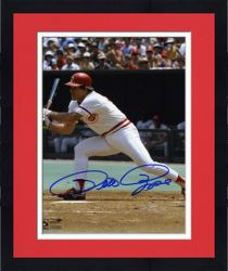 Framed Pete Rose Cincinnati Reds Autographed 8'' x 10'' Swing Photograph