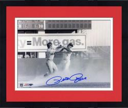 "Framed Pete Rose Cincinnati Reds Fight with Bud Harrelson 8"" x 10"" Autographed Photograph"