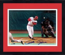 "Framed Pete Rose Cincinnati Reds Hit 4192 Autographed 8"" x 10"" Photograph"