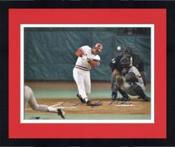 Framed Pete Rose Cincinnati Reds Hit Record Autographed 16'' x 20'' Photograph with Hit King Inscription