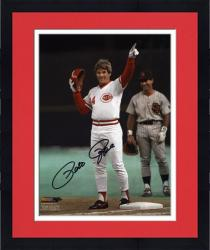 "Framed Pete Rose Cincinnati Reds Record Breaking 4192 Hits Autographed 8"" x 10"" Photograph"
