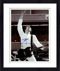 "Framed Pete Townshend Autographed 11"" x 14"" Hand in Air Photograph - Beckett COA"