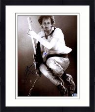"Framed Pete Townshend Autographed 11"" x 14"" Playing Guitar While Jumping Photograph - Beckett COA"
