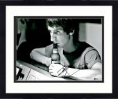 """Framed Pete Townshend Autographed 11"""" x 14"""" The Who Drink Beer Photograph - BAS COA"""