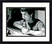 "Framed Pete Townshend Autographed 11"" x 14"" The Who Drink Beer Photograph - BAS COA"