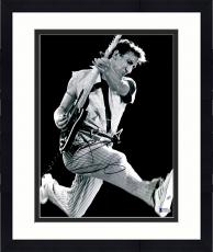 """Framed Pete Townshend Autographed 11"""" x 14"""" The Who Playing Jumping Photograph 1  - BAS COA"""