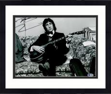 """Framed Pete Townshend Autographed 11"""" x 14"""" The Who Sitting on Couch Photograph - BAS COA"""