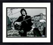 "Framed Pete Townshend Autographed 11"" x 14"" The Who Sitting on Couch Photograph - BAS COA"