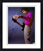 "Framed Pete Townshend Autographed 11"" x 14"" Tuning Guitar Photograph - Beckett COA"