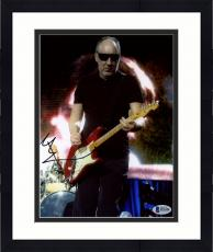 "Framed Pete Townshend Autographed 8"" x 10"" The Who Playing Guitar Wearing Sunglasses Photograph - Beckett COA"