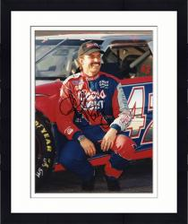 Framed Kyle Petty Autographed 8'' x 10'' Sprint PCS Squatting By Car Photograph