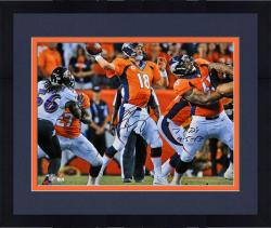 "Framed Peyton Manning Denver Broncos Autographed 16"" x 20"" Photograph with 7TDs 9/5/13 Inscription"