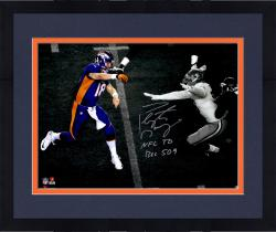 "Framed Peyton Manning Denver Broncos Becomes NFL All-Time Passing Touchdown Record Leader Autographed 11'' x 14'' Spotlight Photograph with ""NFL TD REC 509 10/19/14"" Inscription"