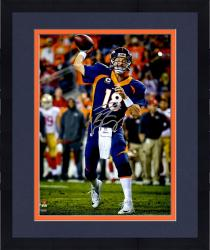 "Framed Peyton Manning Denver Broncos Becomes NFL All-Time Touchdown Passing Record Leader Autographed  16"" X 20"" Photograph"
