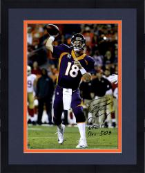 "Framed Peyton Manning Denver Broncos Becomes NFL All-Time Touchdown Passing Record Leader Autographed 16"" x 20"" Photograph with ""NFL TD REC 509 10/19/14"" Inscription"
