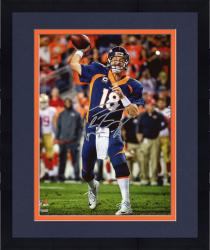"Framed Peyton Manning Denver Broncos Becomes NFL All-Time Touchdown Passing Record Leader Autographed 8"" X 10"" Photograph"