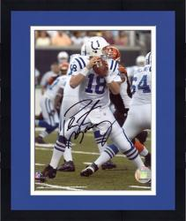 "Framed Peyton Manning Indianapolis Colts Autographed 8"" x 10"" Both Hands on Ball Photograph"