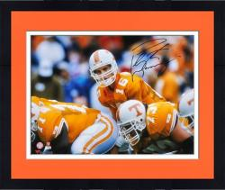 "Framed Peyton Manning Tennessee Volunteers Autographed 16"" x 20"" Line Photograph"