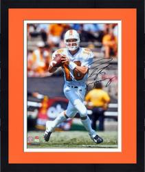"Framed Peyton Manning Tennessee Volunteers Autographed 16"" x 20"" Passing Photograph"