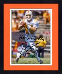 "Framed Peyton Manning Tennessee Volunteers Autographed 8"" x 10"" Photograph with Happy Birthday Inscription"
