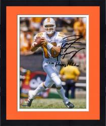 "Framed Peyton Manning Tennessee Volunteers Autographed 8"" x 10"" Photograph with Happy Holidays Inscription"