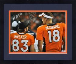 Framed Peyton Manning & Wes Welker Denver Broncos Autographed 16'' x 20'' Back Shot Photograph