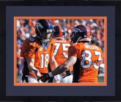 """Framed Peyton Manning & Wes Welker Denver Broncos Autographed 16"""" x 20"""" Handshake Photograph"""