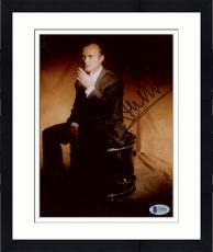 "Framed Phil Collins Autographed 8""x 10"" Genesis Smoking Sitting On Drum Photograph - Beckett COA"
