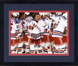Framed Phil Esposito New York Rangers Autographed 8'' x 10'' Pose Photograph with HOF 84 Inscription