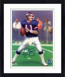 "Framed Phil Simms New York Giants Autographed 8"" x 10"" Ball In Hand Photograph"