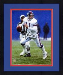 "Framed Phil Simms New York Giants Autographed 8"" x 10"" Looking To Pass Photograph"