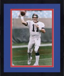 Framed Phil Simms New York Giants Autographed 16'' x 20'' Passing Photograph
