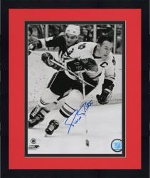 "Framed Pierre Pilote Chicago Blackhawks Autographed 8"" x 10"" Photograph"