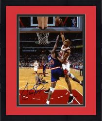 Framed Scottie Pippen Chicago Bulls Autographed 8'' x 10'' Dunk On Patrick Ewing Photograph