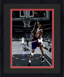 Framed Scottie Pippen Chicago Bulls Autographed 16'' x 20'' Spotlight Dunk On Patrick Ewing Photograph