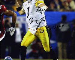Framed Pittsburgh Steelers Ben Roethlisberger 2x Super Bowl Champion Quarterback Autographed Photo