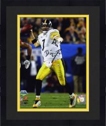 Framed Pittsburgh Steelers Ben Roethlisberger Super Bowl XLIII Champions Signed 8'' x 10'' Photo